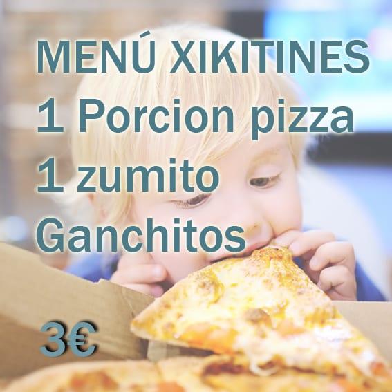 Menú infantil chikitines (2 a 6 años)