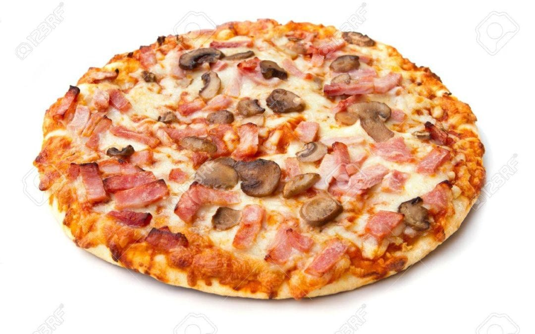 Pizza Jamón y champiñones 27cm